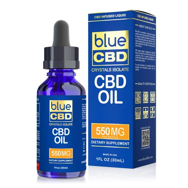 Blue CBD, CBD Oil Tincture, 1oz, 550mg of CBD