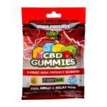 Hemp Bombs, CBD Gummies, High Potency, 5 Count, 125mg of CBD