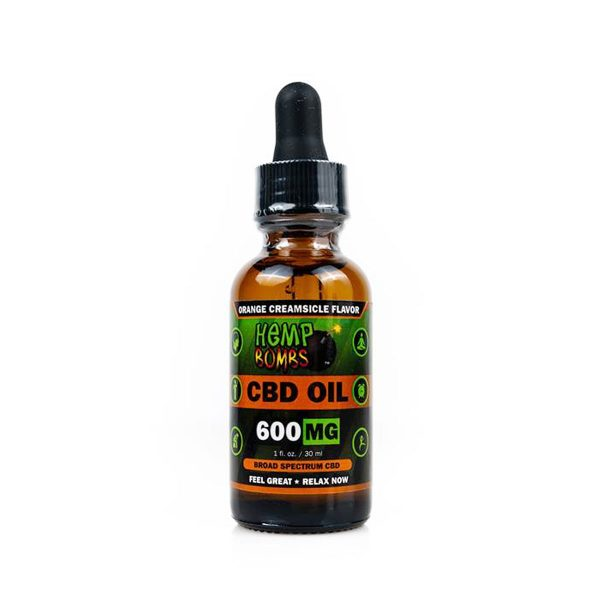 Hemp Bombs, CBD Oil, Orange Creamsicle, 1oz, 600mg of CBD