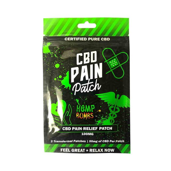 HempBombs, CBD Pain Patches, 2 count, 100mg of CBD