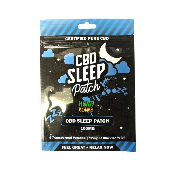 HempBombs, CBD Sleep Patches, 6 count, 100mg of CBD