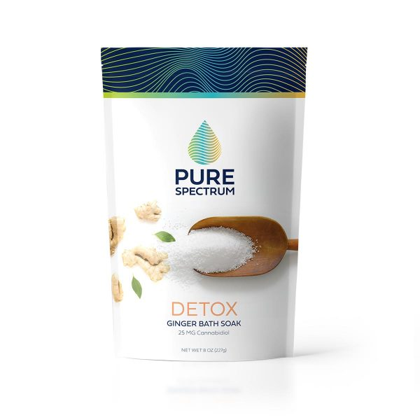 Pure Spectrum, Detox Bath Soak, Ginger, 8oz, 25mg of CBD