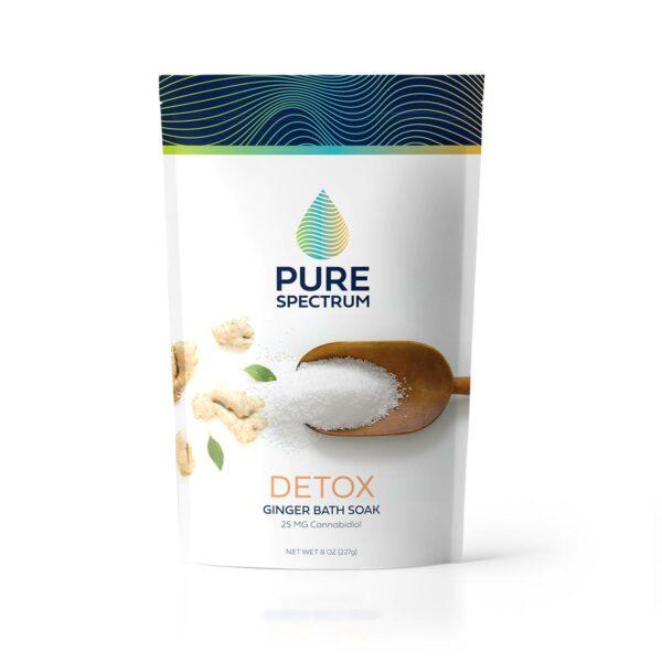 Pure Spectrum, Detox Bath Soak, Ginger, 8oz, 25mg of CBD