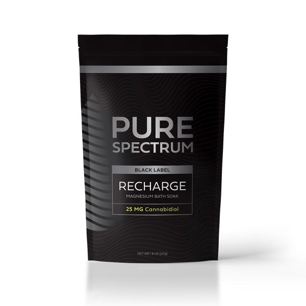 Pure Spectrum Recharge Magnesium Bath Soak 8oz 25mg of CBD