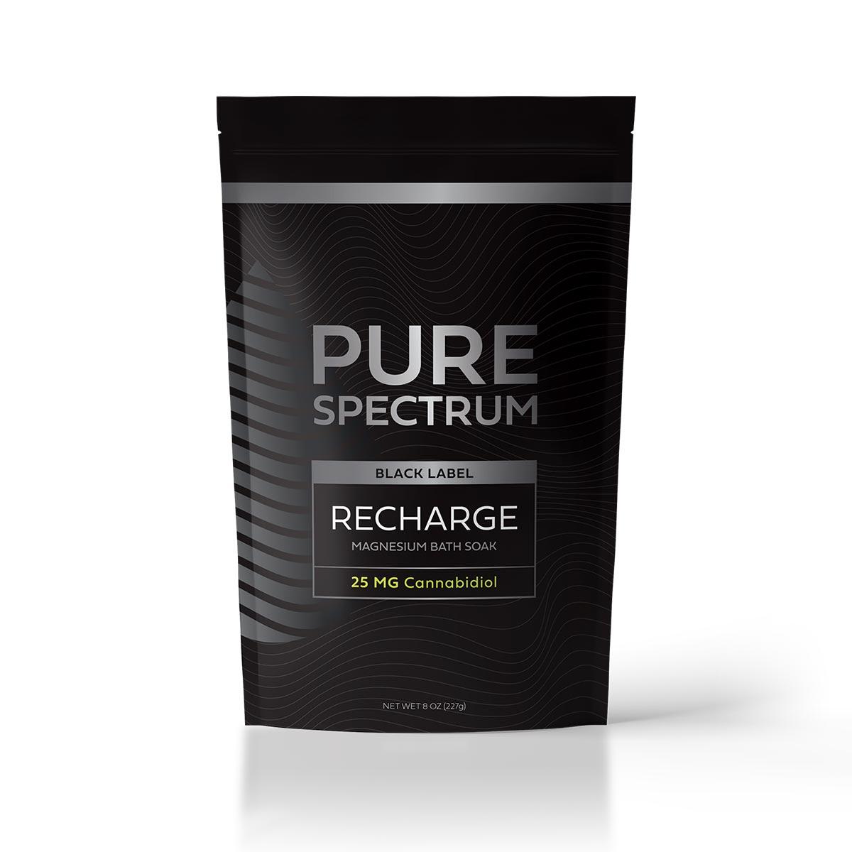 Pure Spectrum  Recharge Magnesium Bath Soak  8oz  25mg of CBD