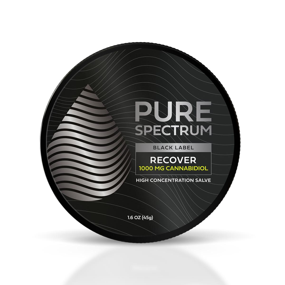 Pure Spectrum, Recover High Concentration Salve, 1,6oz, 1000mg of CBD