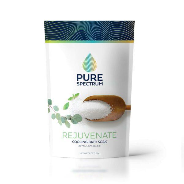 Pure Spectrum, Rejuvenate Eucalyptus Mint Bath Soak, 8oz, 25mg of CBD
