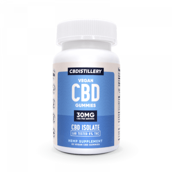 CBDistillery, CBD Gummies, Isolate, 25 count, 750mg of CBD