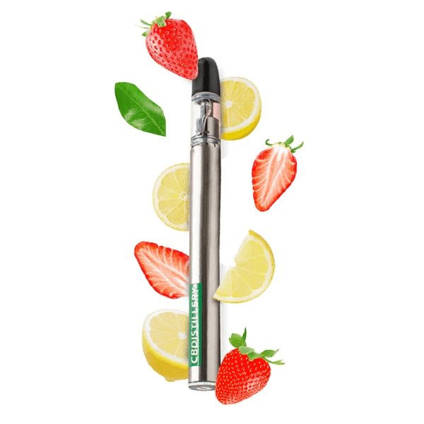 CBDistillery, Vaping Pen, Strawberry Lemonade, 200mg of CBD