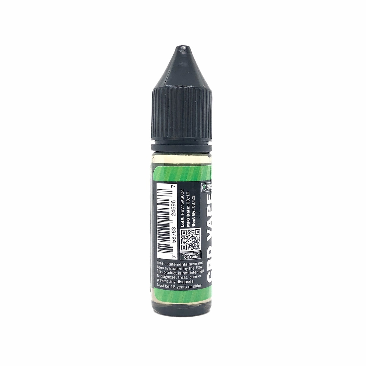 Hemp Bombs, CBD E-Liquid, Arctic Spearmint Blast, 16.5ml, 75mg of CBD-back