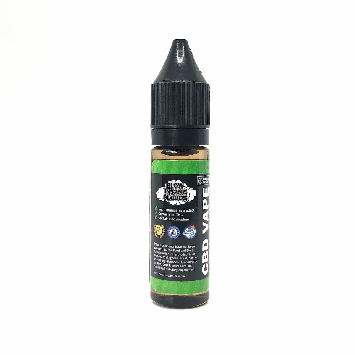 Hemp Bombs, CBD E-Liquid, Roasted Colombian Coffee, 16.5ml, 75mg of CBD-back