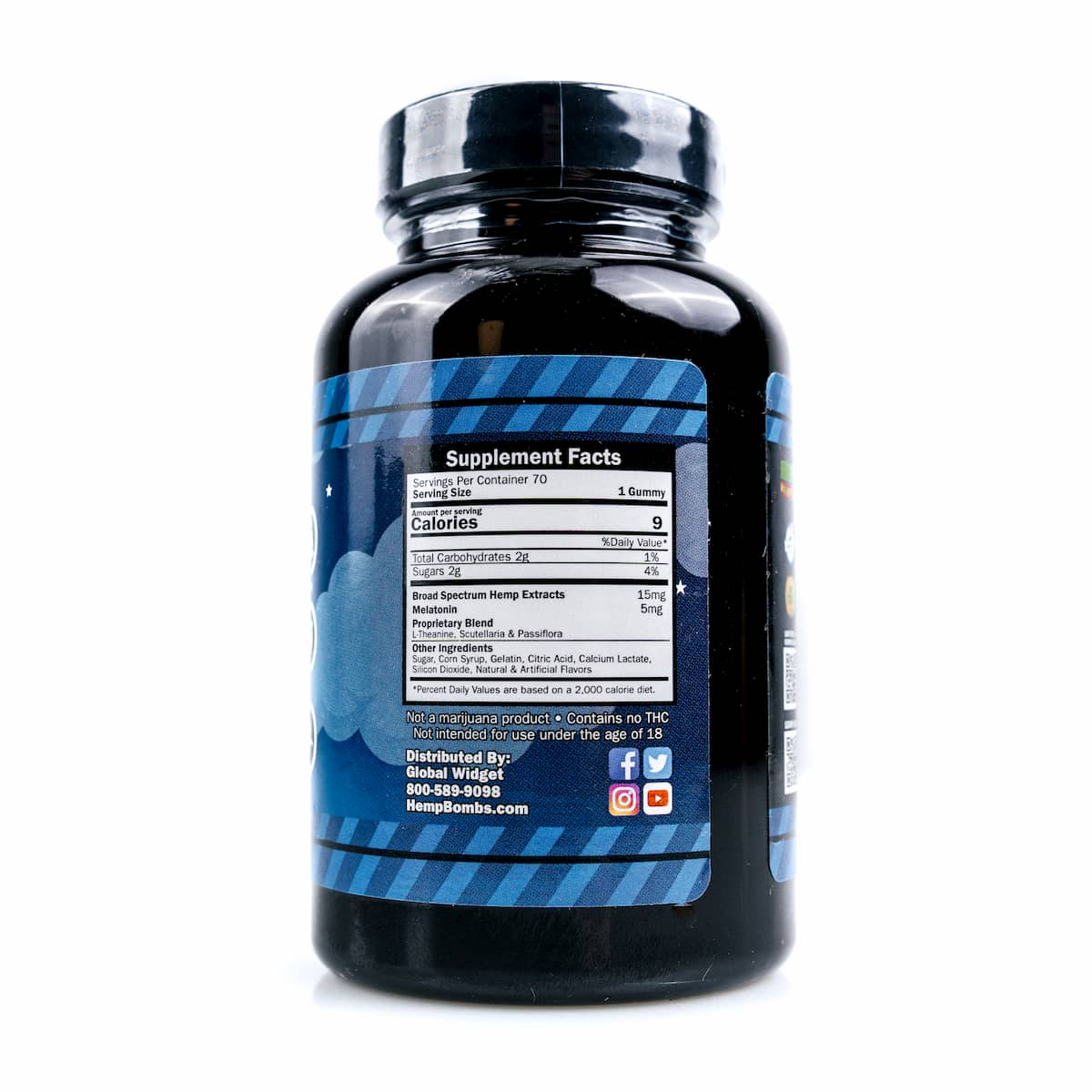 Hemp Bombs, CBD Sleep Gummies with Melatonin, 70 Count, 1050mg of CBD 2