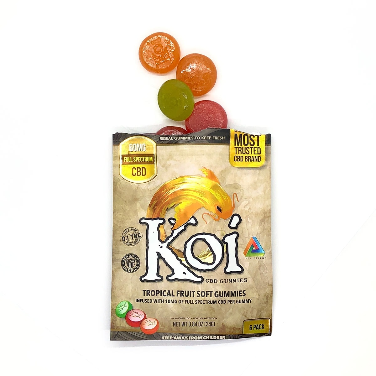 Koi-CBD,-CBD-Gummies,-Tropical-Fruit,-6-count,-60mg-of-CBD_Front