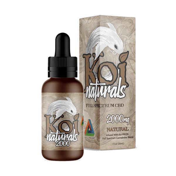 Koi CBD, CBD Oil, Natural Flavor, 30ml, 2000mg of CBD
