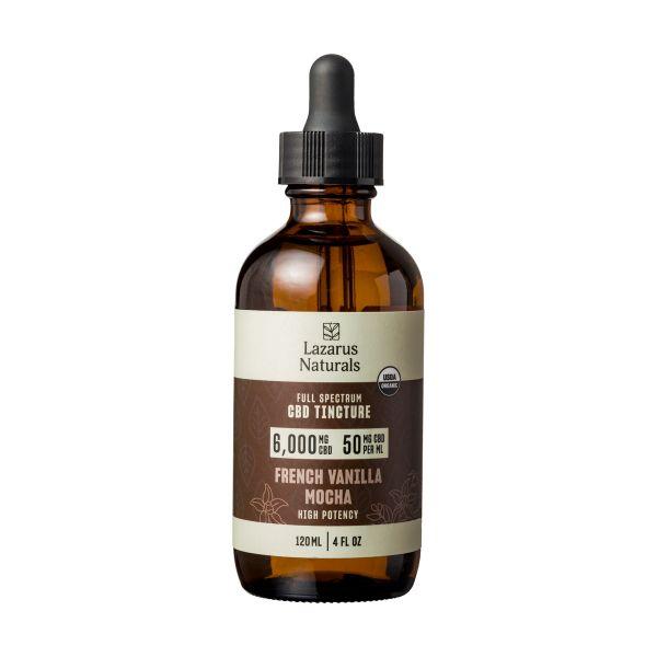 Lazarus Naturals, French Vanilla Mocha Flavored High Potency Full Spectrum CBD Tincture Oil, 4oz, 6000mg CBD 2