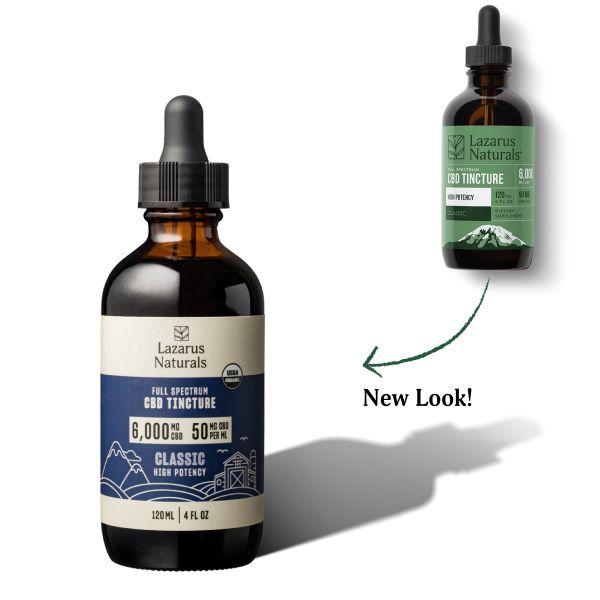 Lazarus Naturals, High Potency Full Spectrum CBD Tincture Oil, Natural Flavor, 4oz, 6000mg CBD 2