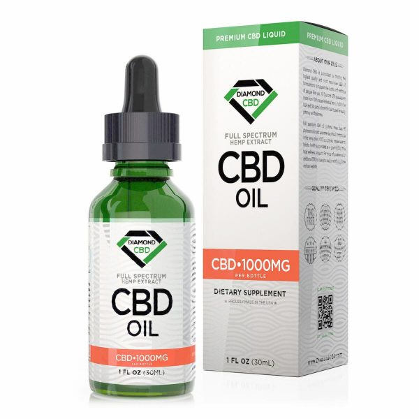 Diamond CBD, CBD Oil, Unflavored, 1oz, 1000mg of CBD