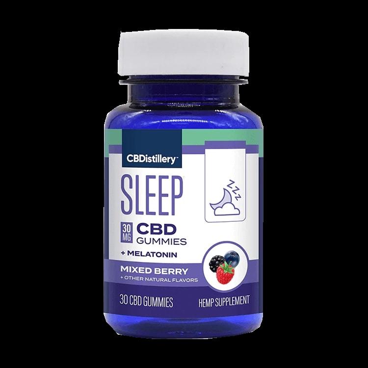 CBDistillery, Broad Spectrum CBD Sleep Gummies + Melatonin, Berry, 30-Count, 900mg of CBD