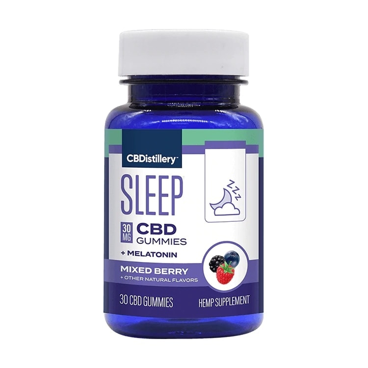 CBDistillery, Broad Spectrum CBD Sleep Gummies + Melatonin, Berry, 30-Count, 900mg of CBD