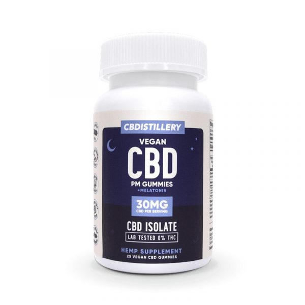 CBDistillery, CBD Nighttime Gummies with Melatonin, Isolate, 25 count, 750mg of CBD