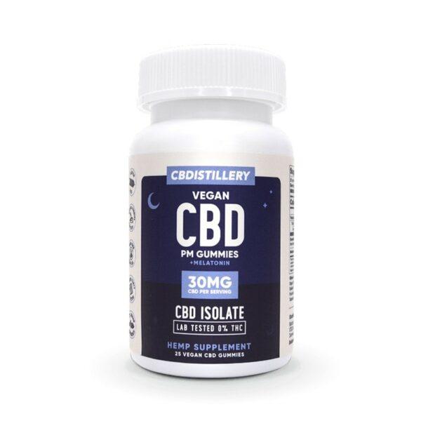 CBDistillery, CBD Nighttime Gummies with Melatonin, Isolate, 25 count, 750mg of CBD