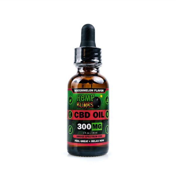 Hemp Bombs, CBD Oil, Broad Spectrum THC-free, Watermelon, 1oz, 300mg of CBD