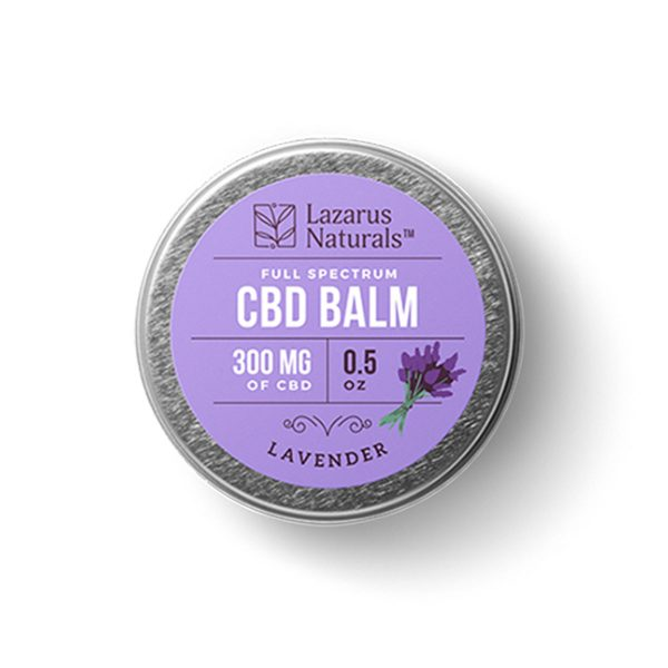 Lazarus Naturals, Lavender CBD Balm, Full Spectrum, 0.5oz, 300mg of CBD