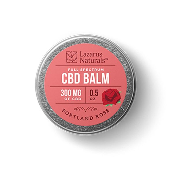 Lazarus Naturals, Portland Rose Full Spectrum CBD Balm, 0.5oz, 300mg of CBD
