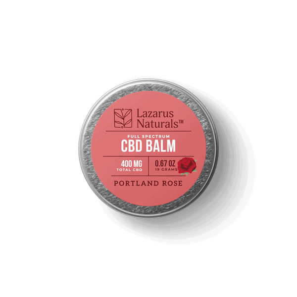 Lazarus Naturals, Portland Rose Full Spectrum CBD Balm, 0.67oz, 400mg of CBD