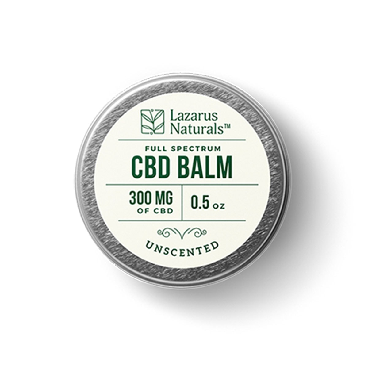 Lazarus-Naturals,-Unscented-Full-Spectrum-CBD-Balm,-0.5oz,-300mg-of-CBD