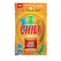 Chill Plus Gummies CBD Sour Bears, 12-14 Count