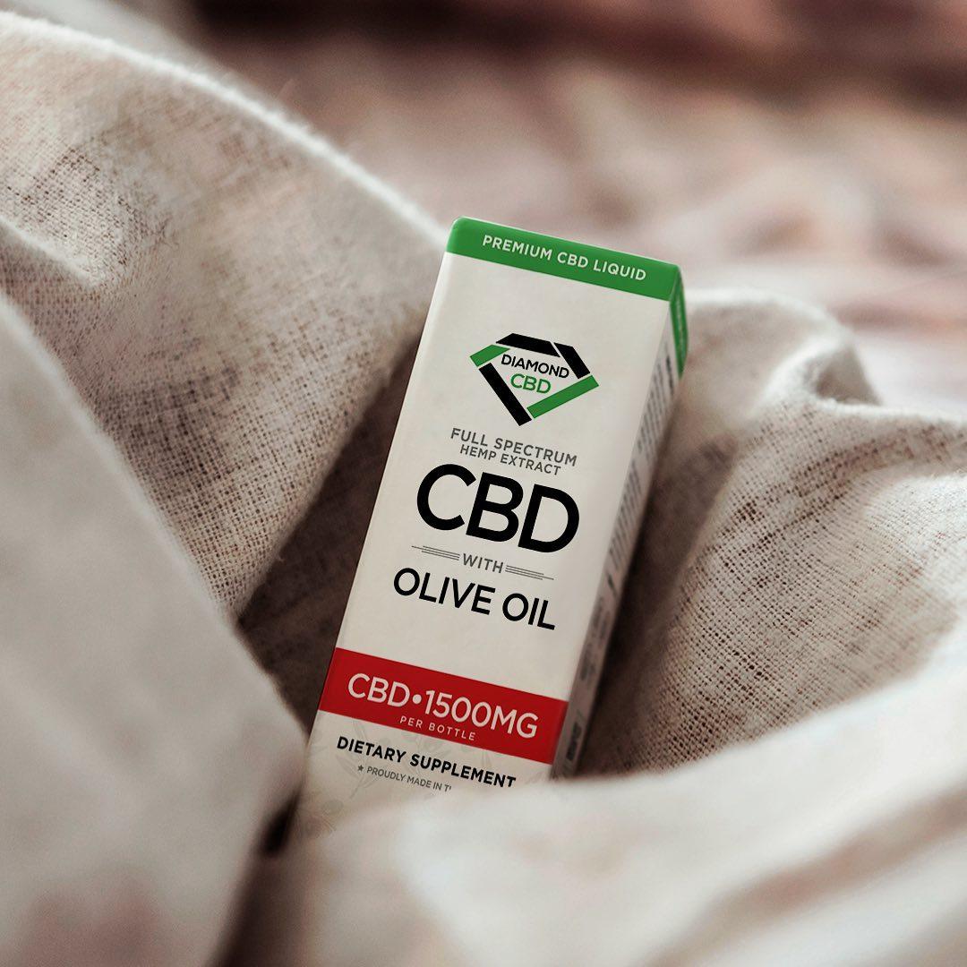 Diamond CBD with Olive Oil, 1000 mg of CBD