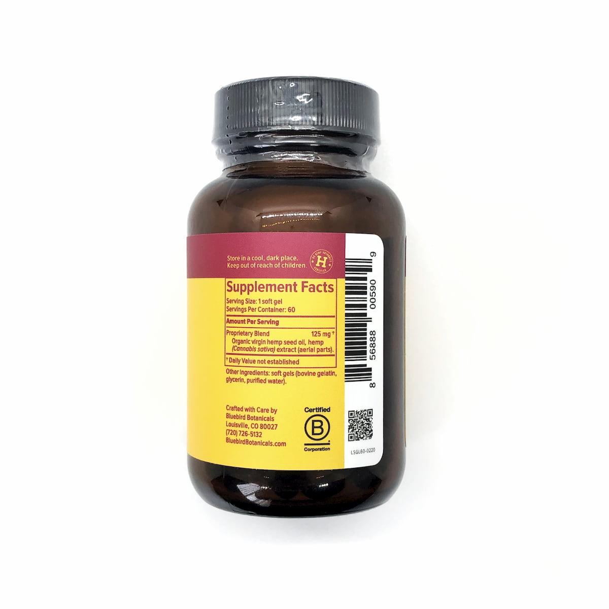 Bluebird Botanicals, Classic CBD Oil Gel Capsules, Full Spectrum, 60-count, 300mg of CBD2