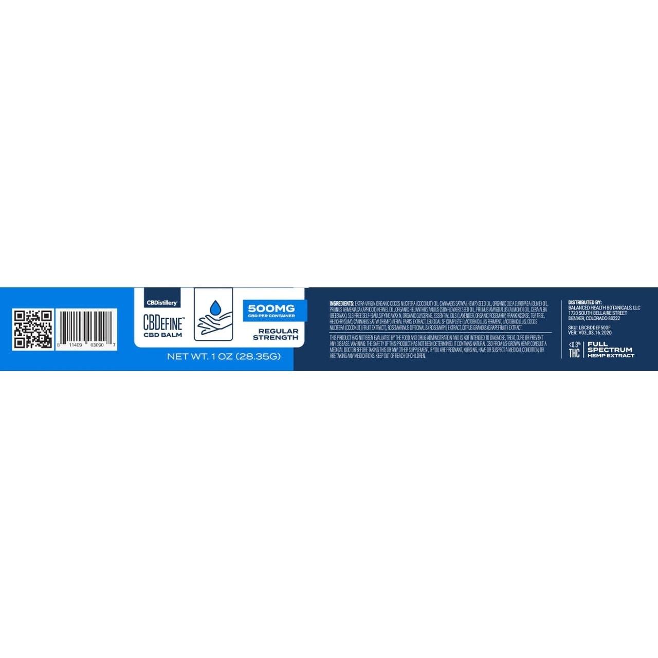 CBDistillery, CBDefine Skin Care Cream, Full Spectrum, 500mg of CBD2