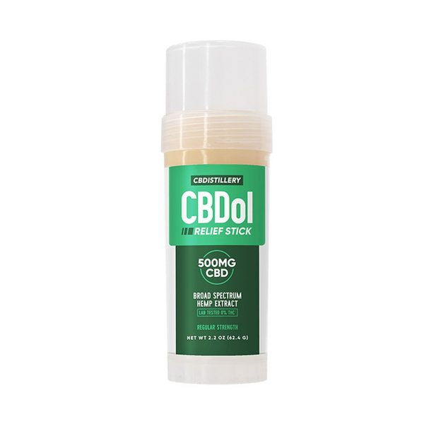 CBDistillery, CBDol Relief Stick, Broad Spectrum THC-Free, 500mg of CBD