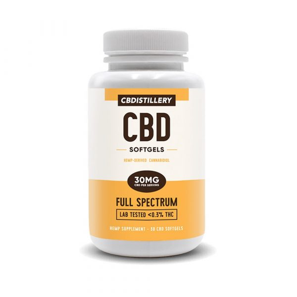 CBDistillery, Full Spectrum CBD Softgels, 30 count, 900mg of CBD