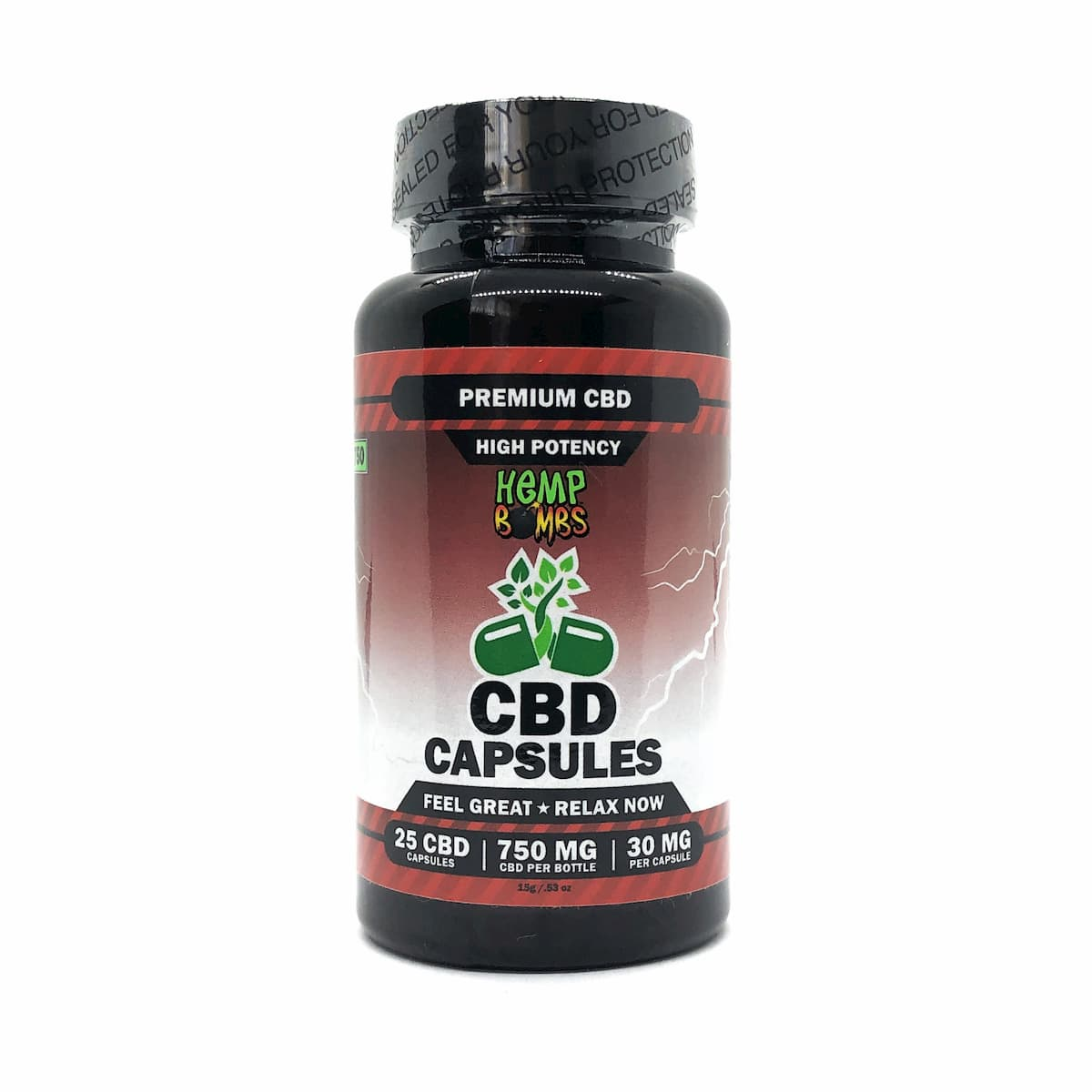 Hemp Bombs, CBD Capsules, High Potency Premium CBD, Full Spectrum, 25 Count, 750mg of CBD