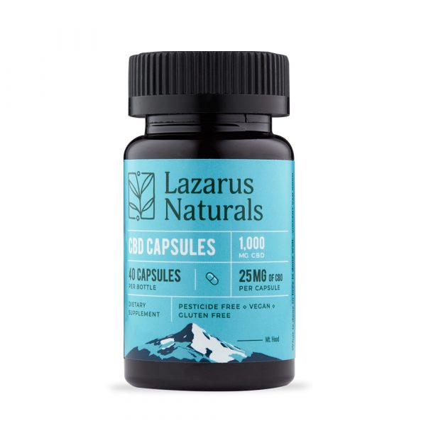 Lazarus Naturals, 25mg Full Spectrum CBD Capsules, 40 capsules, 1000mg of CBD