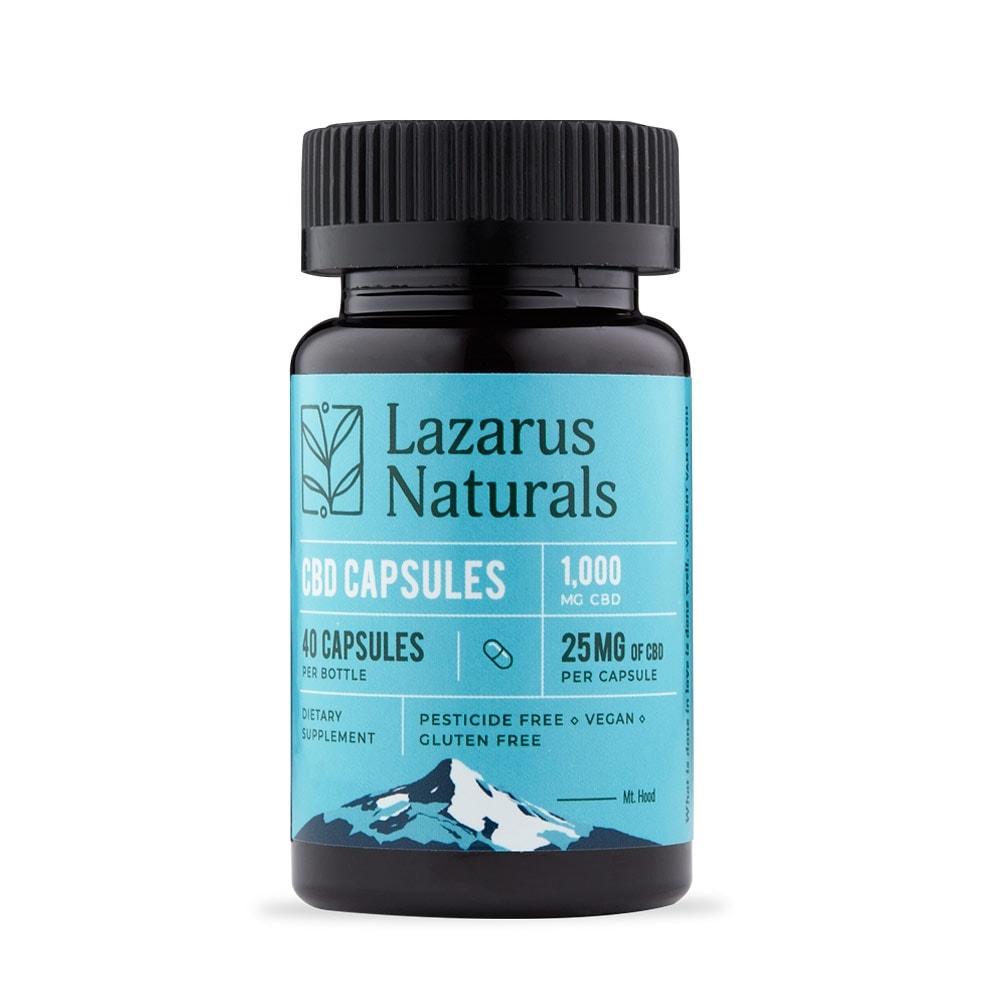 Lazarus Naturals, 25mg Full Spectrum CBD Capsules, 40 capsules, 1000mg of CBD