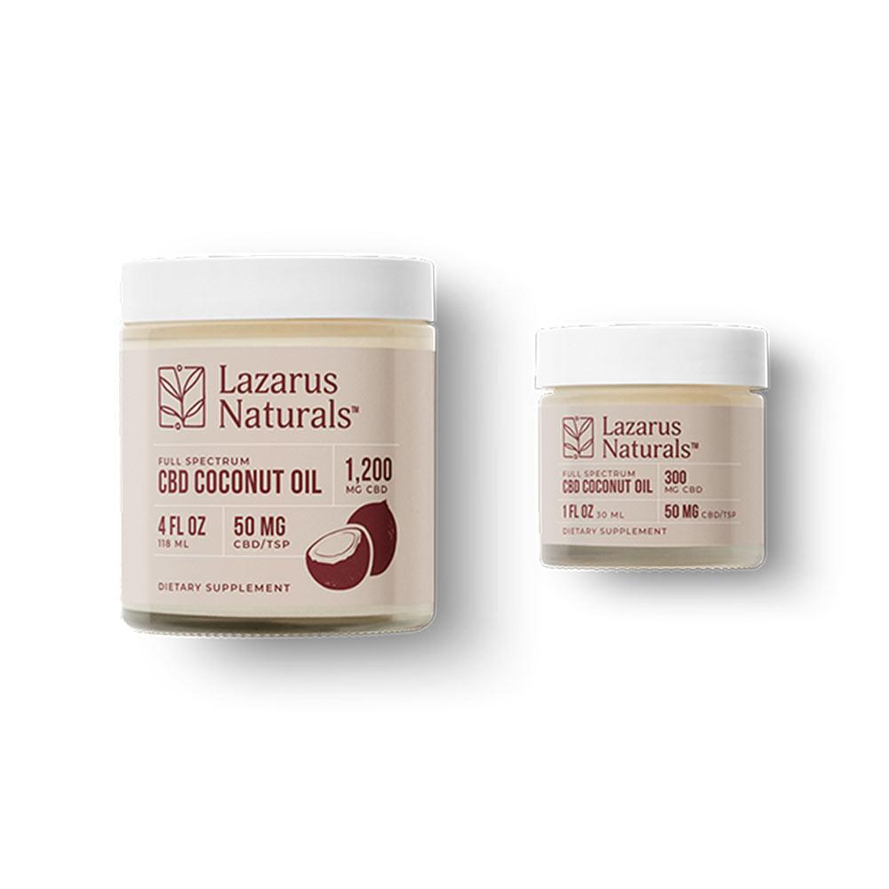 Lazarus Naturals, CBD Coconut Oil, 4oz (118ml), 1200mg of CBD-2