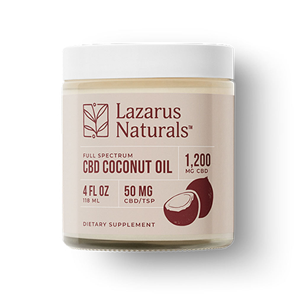 Lazarus Naturals, CBD Coconut Oil, 4oz (118ml), 1200mg of CBD