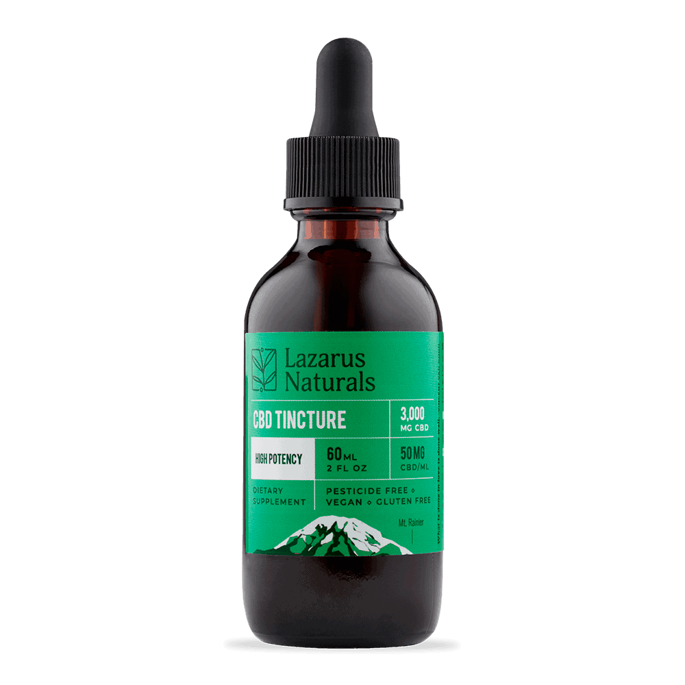 Lazarus Naturals, CBD Oil, High Potency, Natural Flavor, 2oz, 3000mg of CBD