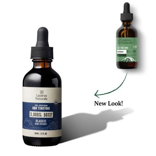 Lazarus Naturals, High Potency Full Spectrum CBD Tincture Oil, Natural Flavor, 2oz, 3000mg CBD 2