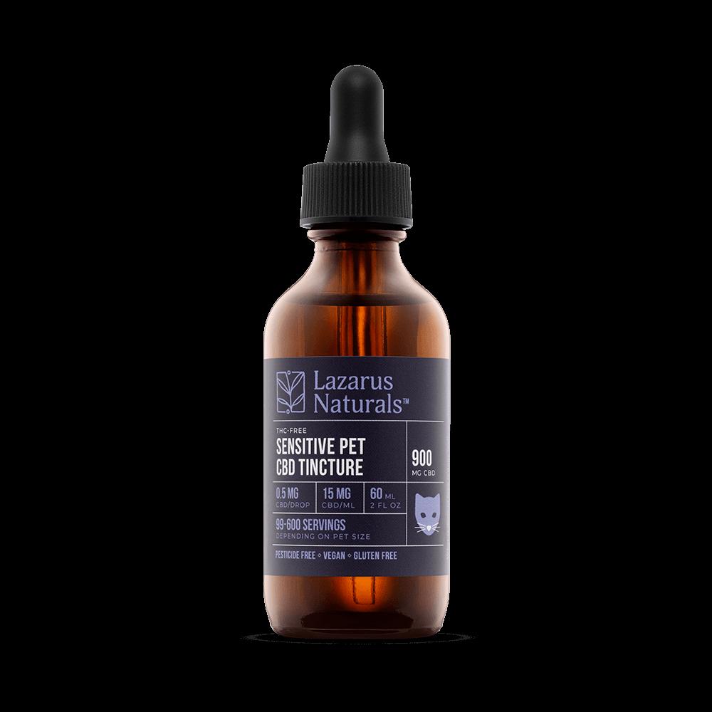 Lazarus Naturals, Sensitive Pet CBD Oil Tincture, 2oz, 900mg of CBD-1