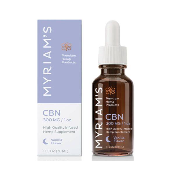 Myriam's Hope, CBN Oil, Full Spectrum, Sweet Vanilla, 1oz, 300mg of CBN