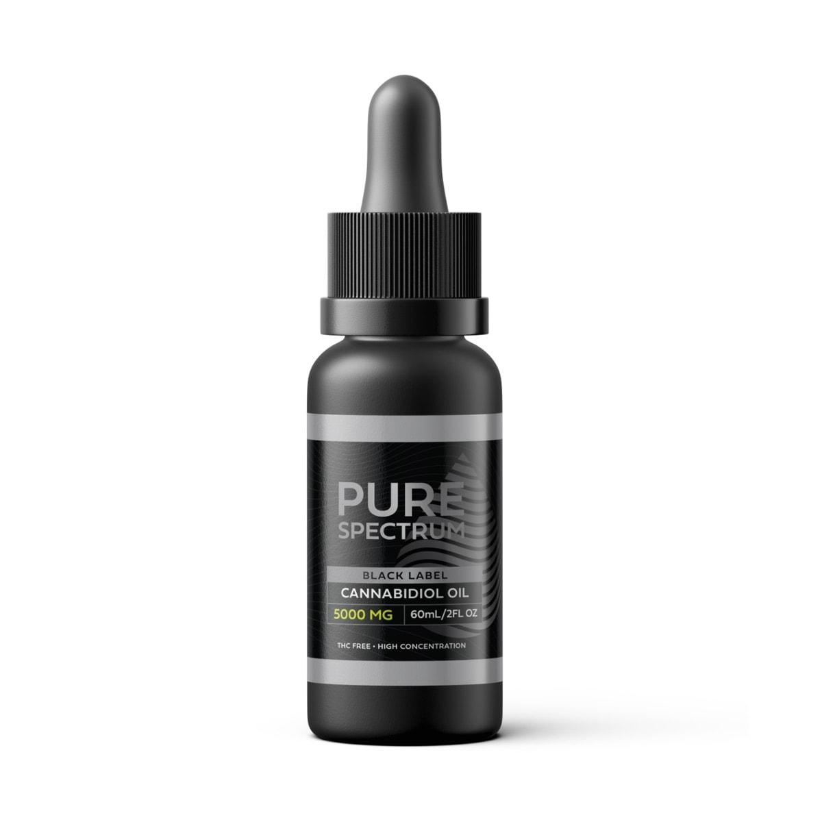 Pure Spectrum, Black Label Cannabidiol Oil, Broad Spectrum THC-Free, 2oz, 5000mg of CBD2