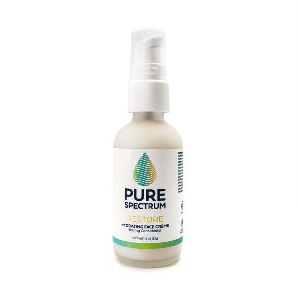 Pure Spectrum, Restore: CBD Hydrating Face Creme, 2oz, 500mg of CBD