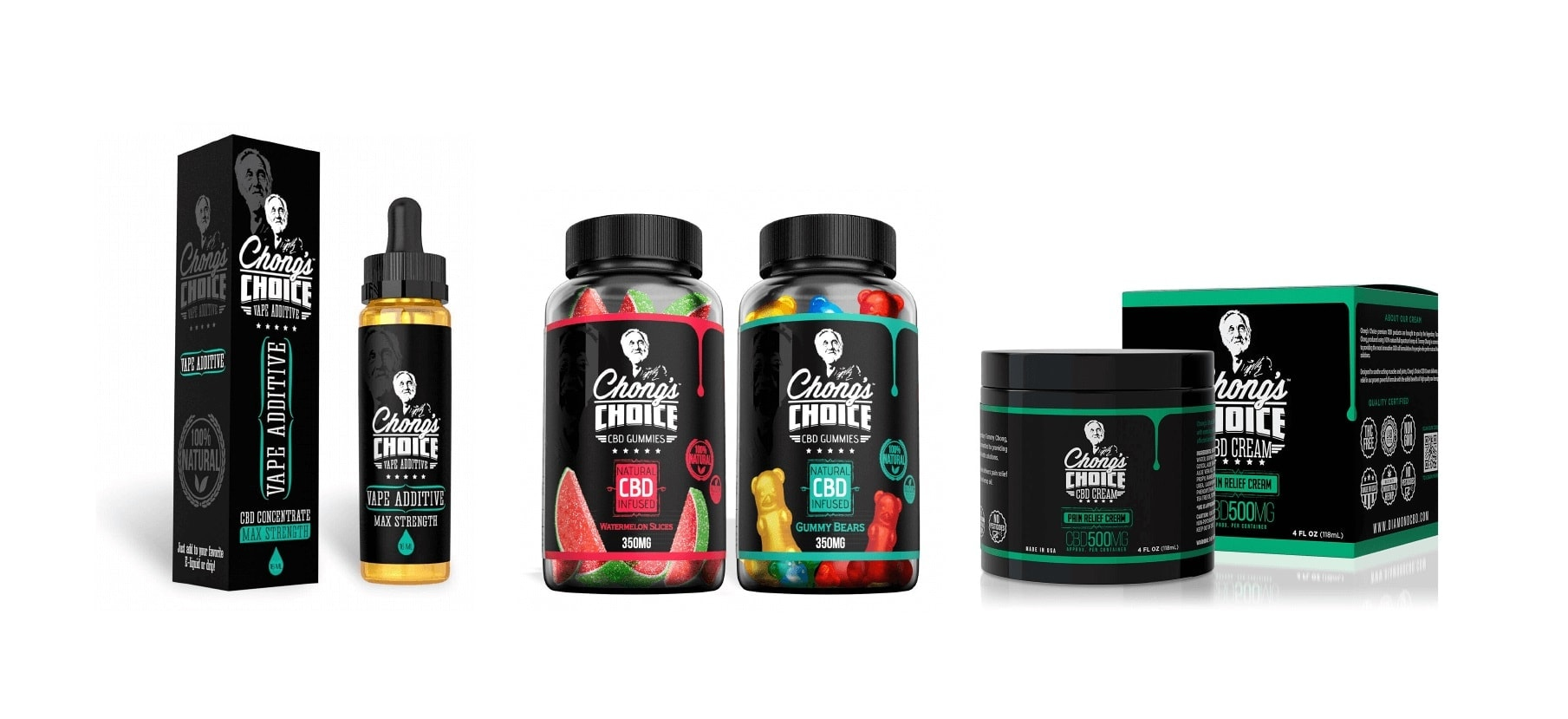 Chong's Choice CBD Products: CBD Gummies, CBD Vape Additives, CBD Creams