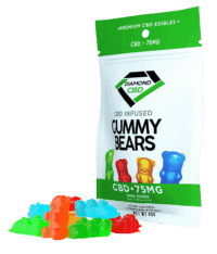 Diamond CBD, Infused Gummy Bears, Full Spectrum, 0.75oz, 30mg of CBD