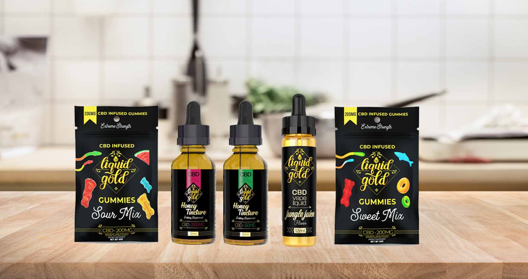 Liquid Gold CBD oil products